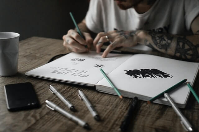 Graphic Designer Sketching